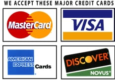 Accepting Visa Mastercard Discover and American Express